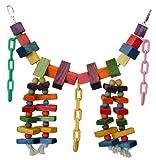 Super Bird Creations 29 by 13-Inch Rainbow Bridge Bird Toy, X-Large, My Pet Supplies