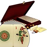 Standard Traditional Chinese Mahjong Game Set with Numbered Tiles and Wooden Case, ''Classic Set''