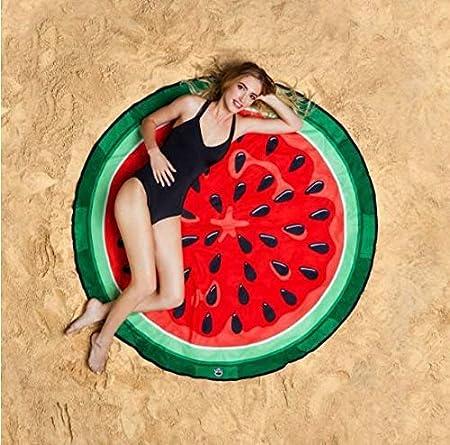 Color : Strawberry, Size : 145 * 145cm FUWUX Home Varie Stampe Stile Europeo e Americano Scialle Asciugamano Spiaggia Estiva Bella Serie Hamburger