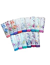 Cotton Ladies' Vintage Floral Handkerchiefs for Wedding Party