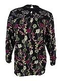 Style & Co.. Womens Plus Floral Print Lace Trim Casual Top Multi 3X