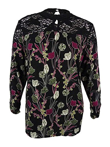 Style & Co. Womens Plus Floral Print Lace Trim Casual Top Multi 3X (. Blouse Co & Floral Style)