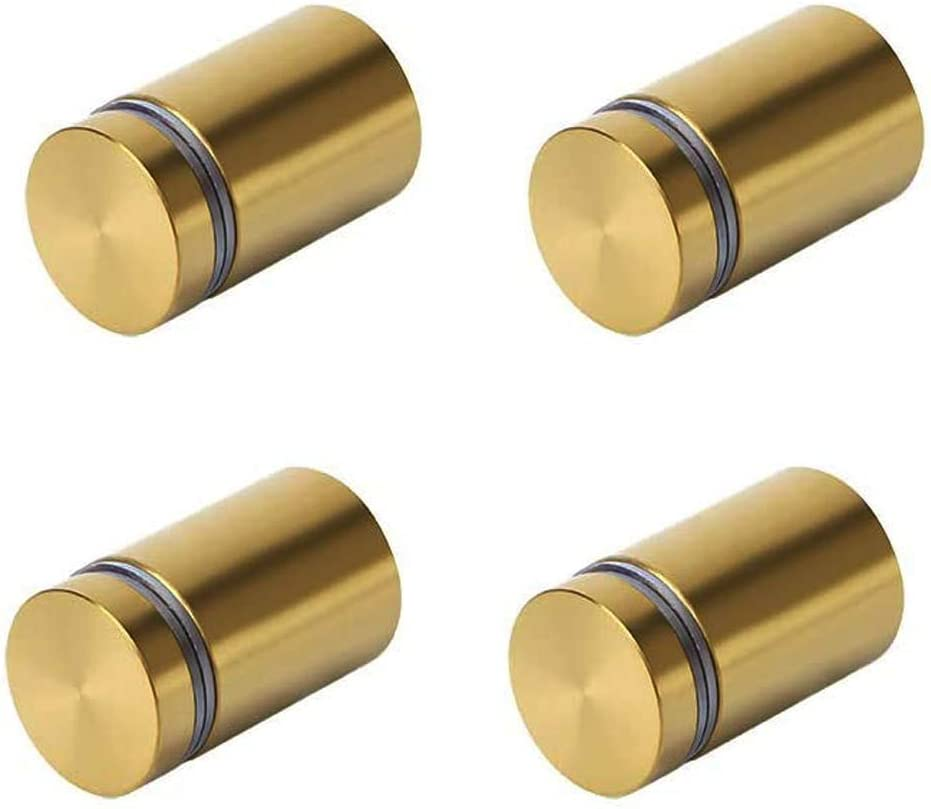 MRKS030 4 Units 1319mm Brass Mounting Standoffs Hardware Standoff Fixings Screw Bolts Signage Advertisement Fixings for Acrylic Glass Wood 3//4 Dia x 1