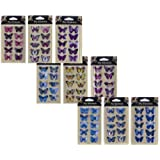 3D Butterfly Stickers - 8 Assorted Packs