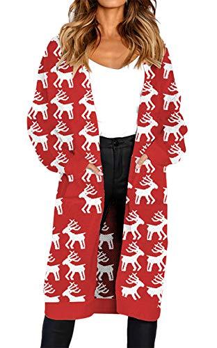 Red Maglioni Sciolto Maglia Tempo Mode Manica Marca A Leopard Comodo Di Cardigan 2 Termico Autunno Lunga Vintage Libero Invernali Calda Cappotto Fashion Donna Giacca BHFwZnq