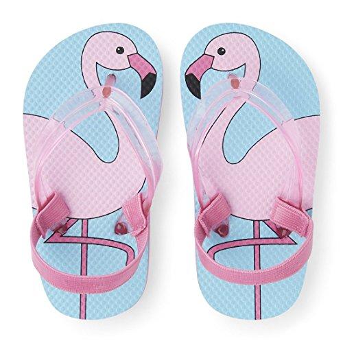 The Children's Place Girls' E TG Flamingo FF Flip-Flop, Pink