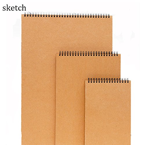 30 Sheets Medium Texture Sketchpad For General Use Pencil Pastel and Charcoal Sketching Coloring Notebook Sketchbook Spiral Bound Sketch Pad