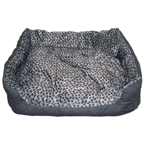 Eyepower Pet Bed Niclas XL Grey Paws approx. 120 x 90 x 27 cm
