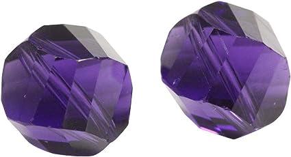 Swarovski round Austrian crystal beads faceted Light Amethyst purple 4mm 6mm