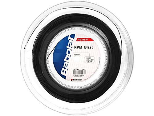 Babolat RPM Blast (17-1.25mm) Tennis String Reel (Black)