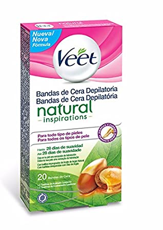 Veet Bandas de Cera Depilatoria -Easy Gelwax, Natural Inspirations, 20 bandas: Amazon.es: Belleza