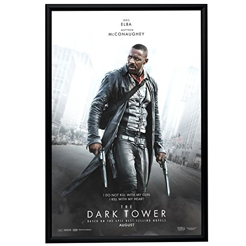 "Movie Poster Frame 27x40 Inches, Black SnapeZo 1.2"" Aluminum Profile, Front-Loading Snap Frame, Wall Mounting, Premium Series for One Sheet Movie Posters"
