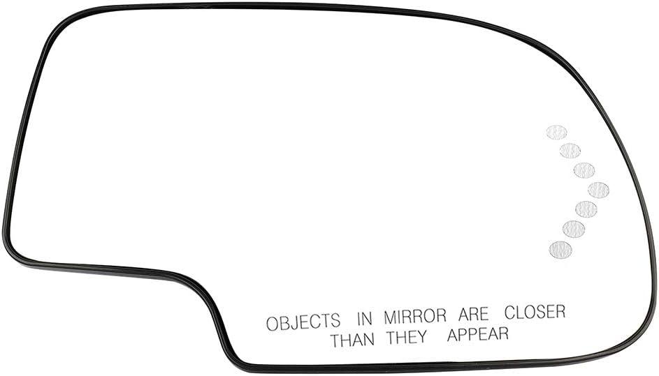 SCITOO Right Side Mirror Glass Fit for 2003-2004 Chevrolet Silverado 2500 2003-06 GMC Yukon