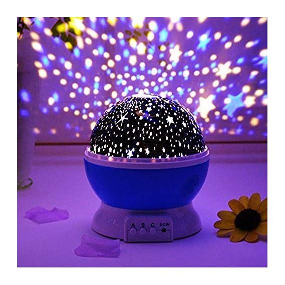 Homeeasy Plastic Glass Rotating 4 Mode Sky Star Master Mini Projector Lamp for Kid's Room D