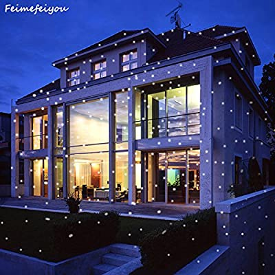EU plug : Feimefeiyou snowflower wireless lampada LED Laser Projector Stage Light outdoor Christmas Lighting with remote control