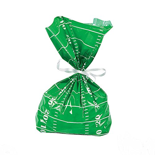 24 Super Bowl TAILGATE Party Favors FOOTBALL FIELD CELLO Goody TREAT BAGS U.S Best Seller!]()