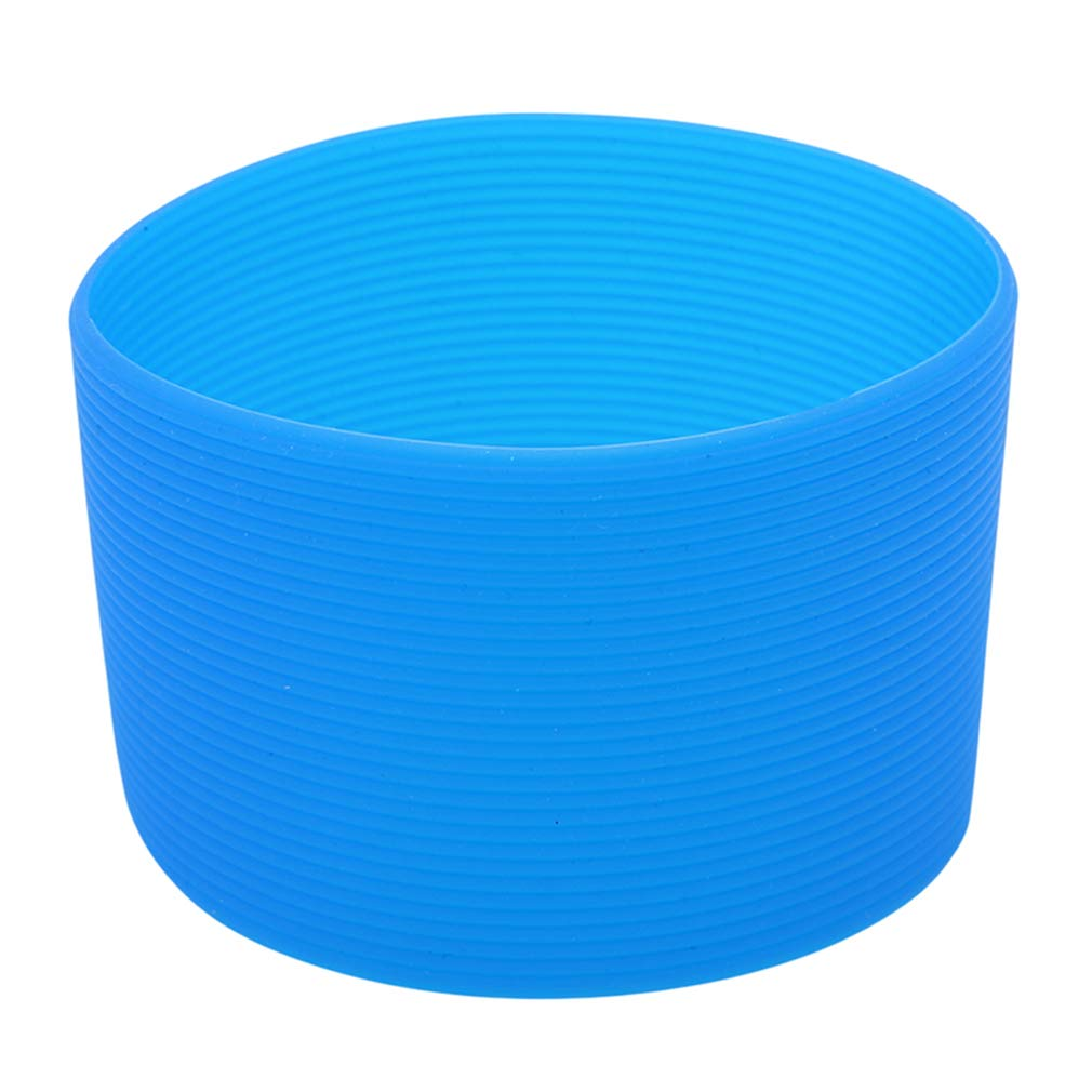 EH-LIFE Water Cup Cover Silicone Sleeves Heat Resistant Non-Slip Coffee Cup Ceramic Mug Wraps Sleeves 6.5cm Blue
