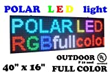 LED RGB color sign 40'' x 16'' for OUTDOOR use with high resolution P10 and new SMD technology. FAST free sending with UPS