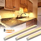 MYPLUS LED Under Cabinet Lighting, 3 pcs 12 inches Extremely Soft Kitchen Lights 10W, 630lm With 10 Levels Dimmable LED Under Counter Lights, for Kitchen Cabinet,Counter,Workbench etc - 3000K