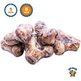 Dog Bones - 100% Natural Beef Smoked Knuckles (8 Count) Premium Meat Bone Chews for Medium to Large Dogs From Free Range Cattle by 123 Treats