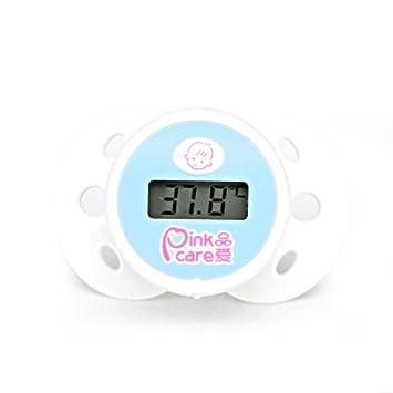 NAIZUI Termómetro de chupete Bebé Tipo de pezón Material de silicona Electrónico Preciso Para bebés y