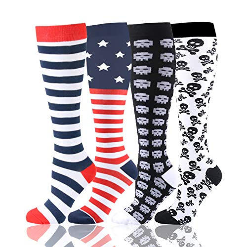 HLTPRO Compression Socks for Women & Men - 1 to 6 Pairs 20-30 mmHg Compression Stockings for Travel, Running, Pregnancy, Nurse -