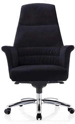 Geffen Genuine Leather Aluminum Base High Back Executive Chair