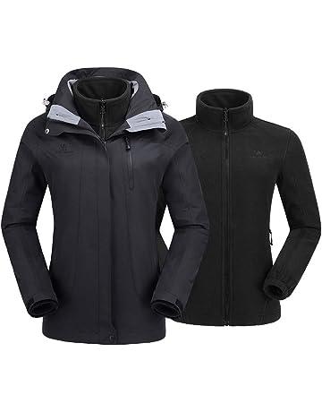 CAMEL CROWN Women s Ski Waterproof Jacket Fleece Inner Rain Winter Coats  Hooded Windproof Snowboard Jacket for 38ad5d67df39