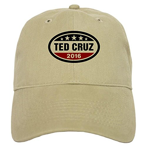 CafePress Ted Cruz 2016 Cap Baseball Cap with Adjustable Closure, Unique Printed Baseball Hat Khaki