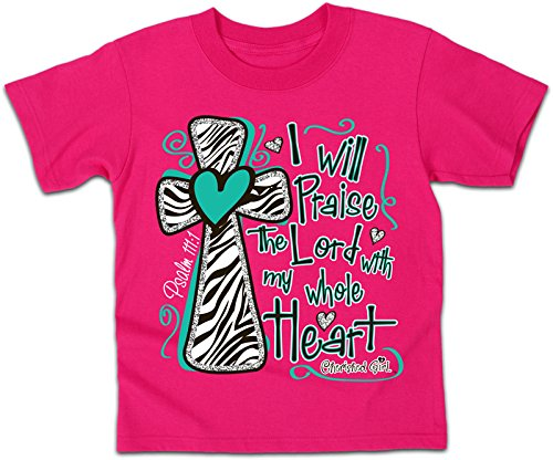 I Will Praise the Lord - Kidz Cherished Girl T-Shirt (Medium), (Jesus Youth Christian T-shirt)