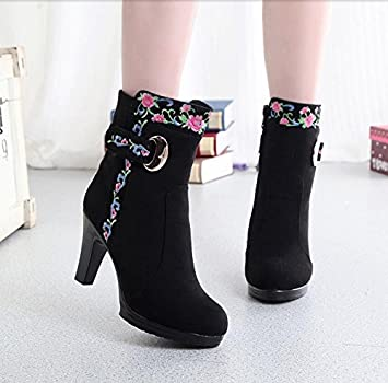 AJUNR Damen Neue Mode Schuhe Der Stoff des Alten Peking