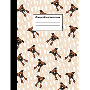 Composition Notebook: Wide Ruled Cute Boxer Dog Puppy | Lined Journal for Boys & Girls Teens, Kids Students for Home, School or College 8