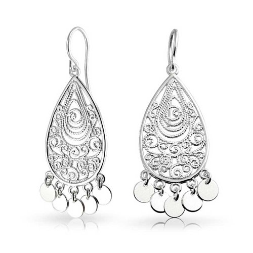 Bohemian Filigree Chandelier Sterling Silver Dangle ()