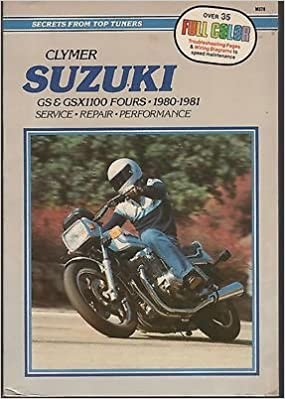 1980-1981 CLYMER SUZUKI GS & GSX1100 FOURS SERVICE MANUAL