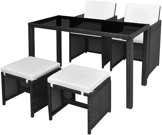 Tuduo Juego de Mesa y sillas para Exteriores de 11 Piezas en ...