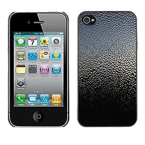 Cubierta de la caja de protección la piel dura para el Apple iPhone 4 / 4S - sky nature glass rain droplets reflection