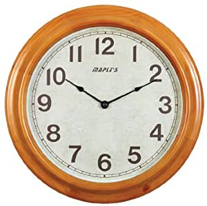 Amazon Com Maple S 16 Inch Wooden Round Wall Clock Home