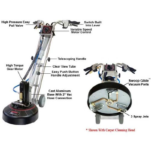 Rotovac 360i Rotary Extraction Power Wand from UltraClean Supply (Rotovac Power Wand)