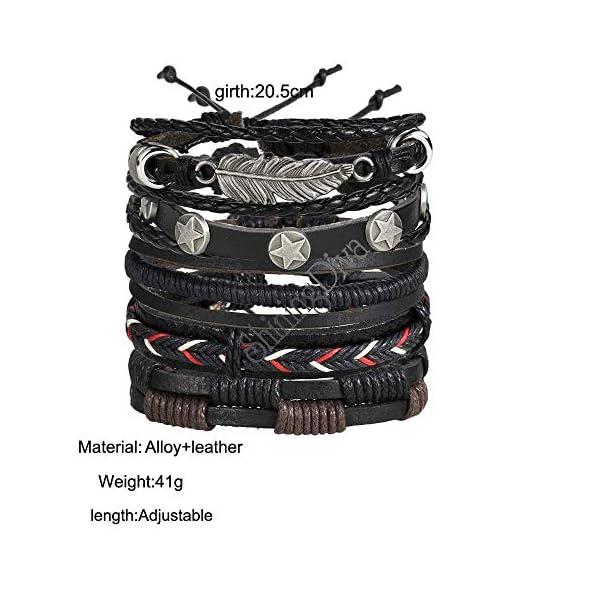 Shining Diva Fashion Genuine Leather Bracelet Wraps Casual Skin Friendly Bracelets for Men Boys