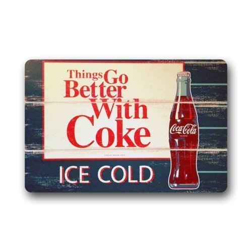 Ice Coca Cola Bottles Indoor/Outdoor Doormat