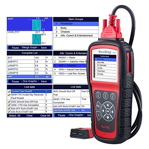 Autel MaxiDiag MD805 (MD802) All Systems OBD2 Scanner for...