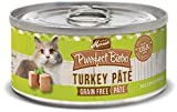 Merrick Purrfect Bistro Grain Free Turkey Pate Wet Cat Food, Case of 24, 5.5 oz