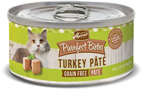 Merrick Purrfect Bistro Grain Free, 3 oz, Turkey Pate - Pack