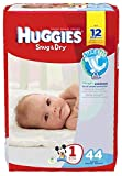 Kimberly Clark - 40653 - HUGGIES Snug and Dry Diapers, Step 1, Jumbo Pack Image