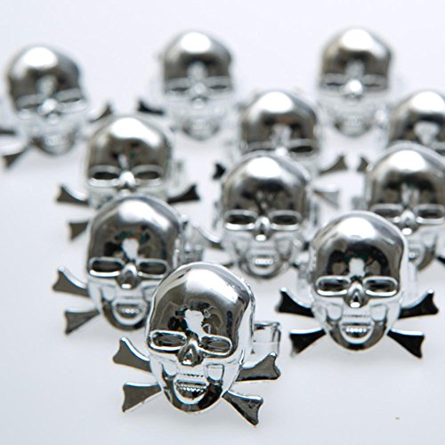 U.S. Toy Metallic Skull & Bones Rings -