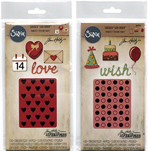 Tim Holtz Alterations - Sizzix Sidekick Side Orders - Birthday and Valentine Sets