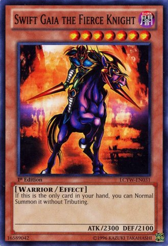 Yu-Gi-Oh! - Swift Gaia the Fierce Knight (LCYW-EN031) - Legendary Collection 3: Yugi's World - Unlimited Edition - Common (Gaia Knight Fierce Swift)