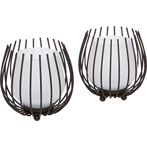 Round Candle Holder (Metal Candle Holder Set with Frosted Cups)