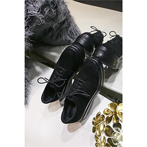 KJJDE con A0511 Zapatos WSXY Suelas Mujeres Plataforma Gruesas Black vvHpqw