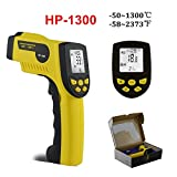 Ir Thermometer Digital Non Contact Infrared Thermometer Temperature Measurement Instruments Pyrometers 'C/'F Unit HP1300